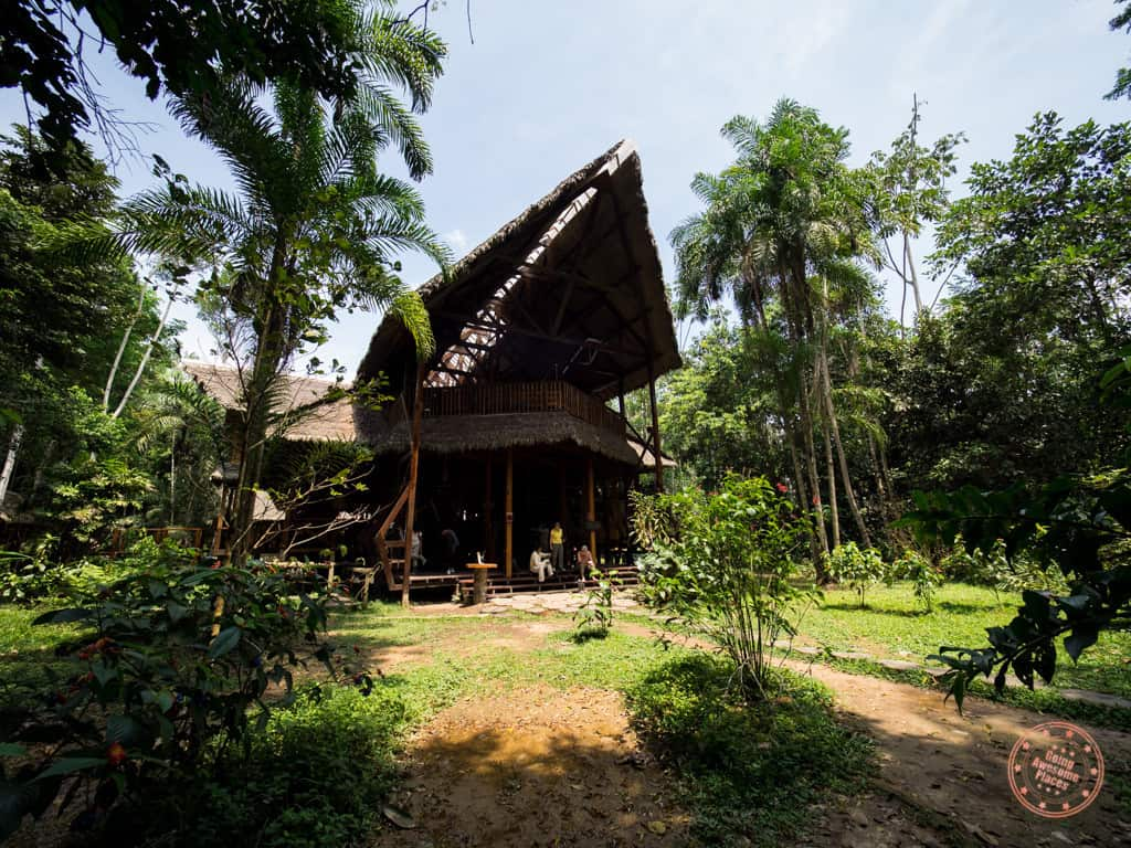 entrance to the refugio amazonas amazon jungle lodge - a review