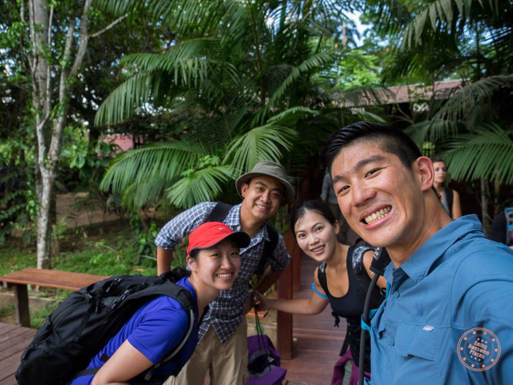 Just outside the main office of Rainforest Expeditions