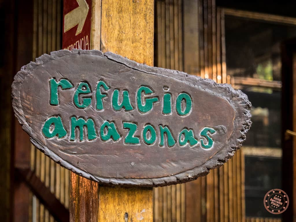 Refugio Amazonas - our home for the next 4 days.