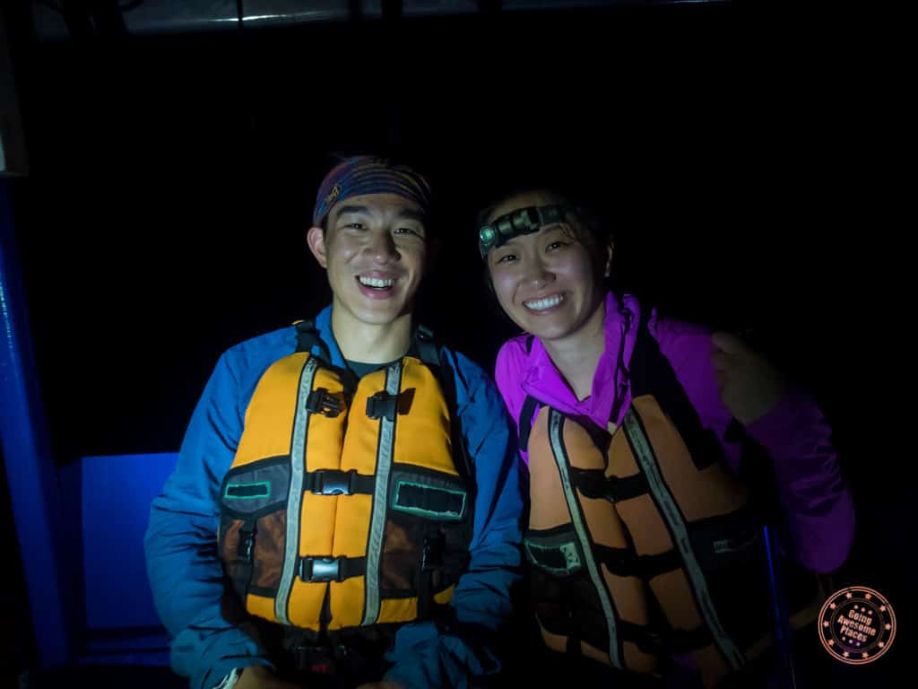 After getting cleaned up, we watch a nature video with the group (snoozefest) followed by dinner. In the evening, we pop on our headlamps and head for the boats again to see if we can catch the elusive Black Caiman.