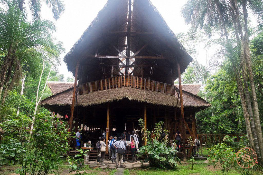 Grand entrance to the Refugio Amazonas lodge in Peru Amazon planning guide