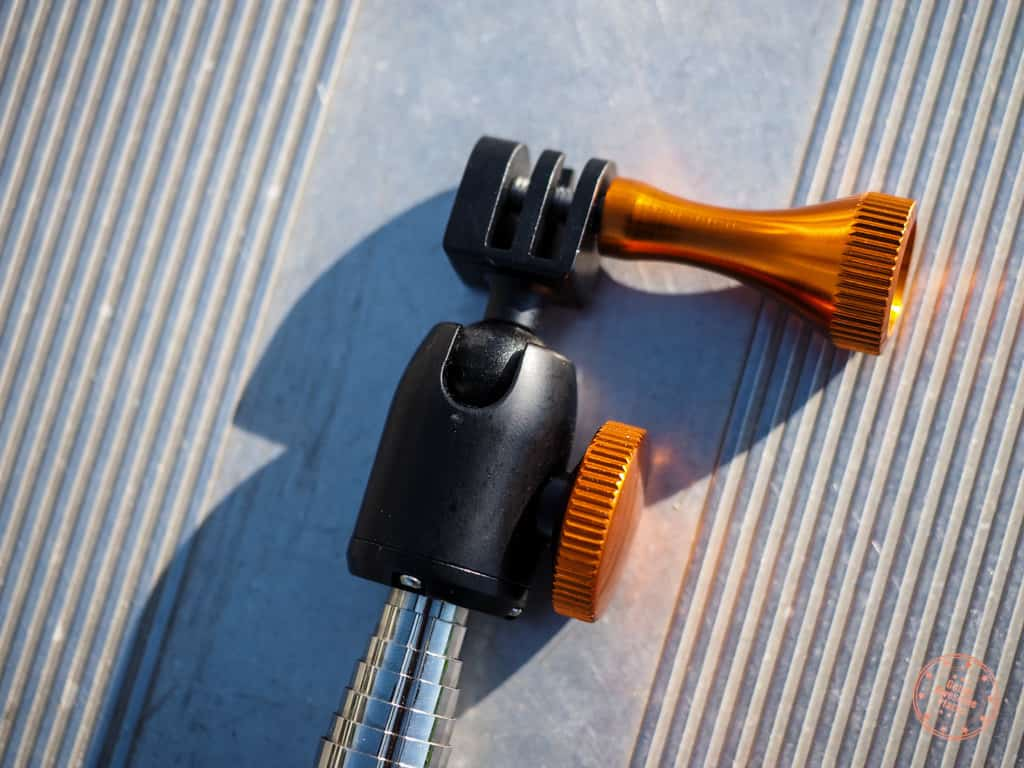 GoPro attachment for XShot Pro's ball head