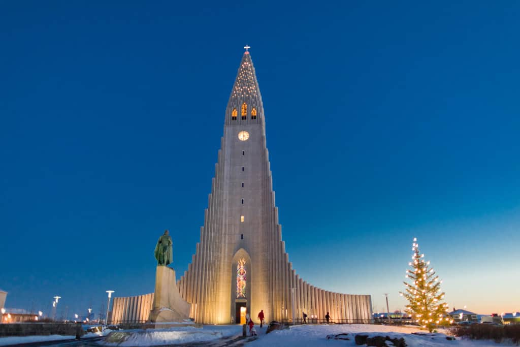 hallgrímskirkja church in reykjavik as part of iceland itinerary