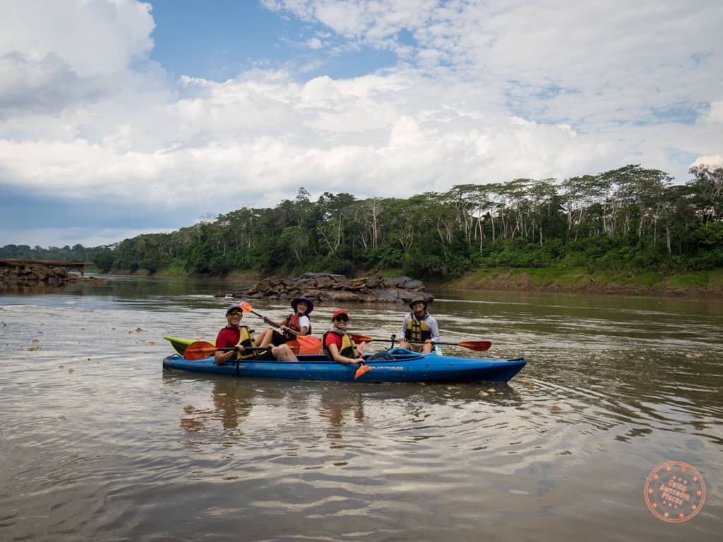 We were able to add on a kayaking excursion on the Tambopata River. In my opinion it wasn't quite worth it as there wasn't much to see and the sun was blazing hot at this time of the day.