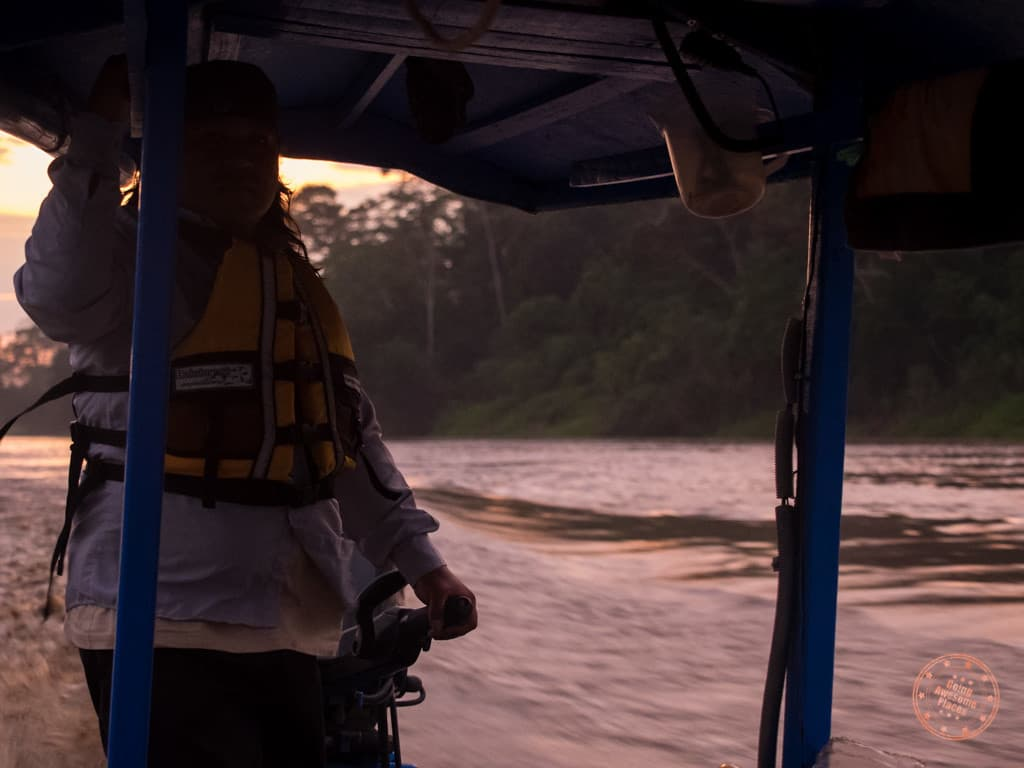 If you're not a morning person, this may not be for you. We woke up 4AM to catch a 2 hour boat ride upstream to the site of the Chuncho Claylicks.