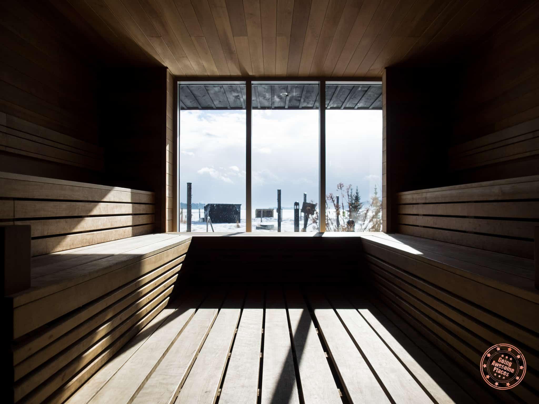 Spa du Verger Charlevoix Sauna