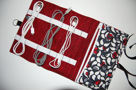 cord organizer etsy travel gear gift