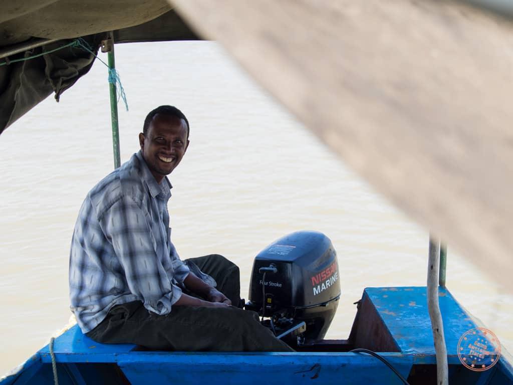 lake chamo boat ride in ethiopia near arba minch