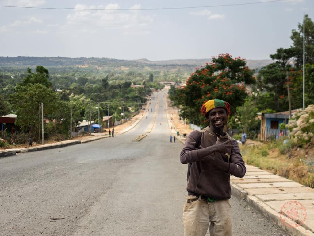 rastafarian friend in jinka omo valley