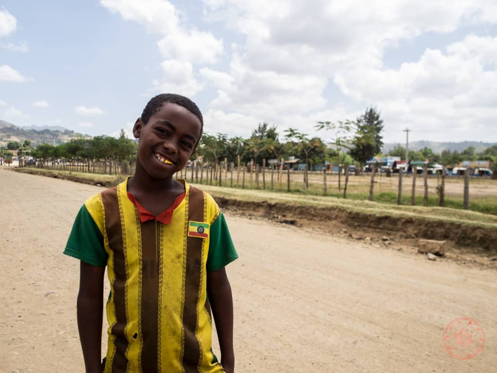 jinka kid that followed us in ethiopia asking to help buy text books for school