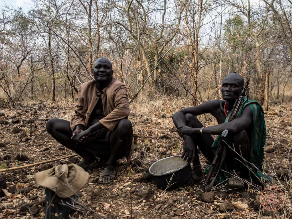 """Kurchikov's are not an uncommon sight in these parts. They are mainly used for protection and """"in case there are lions"""" I was told. Now that made me a little nervous as we walked through the bush to get to the watering hole."""