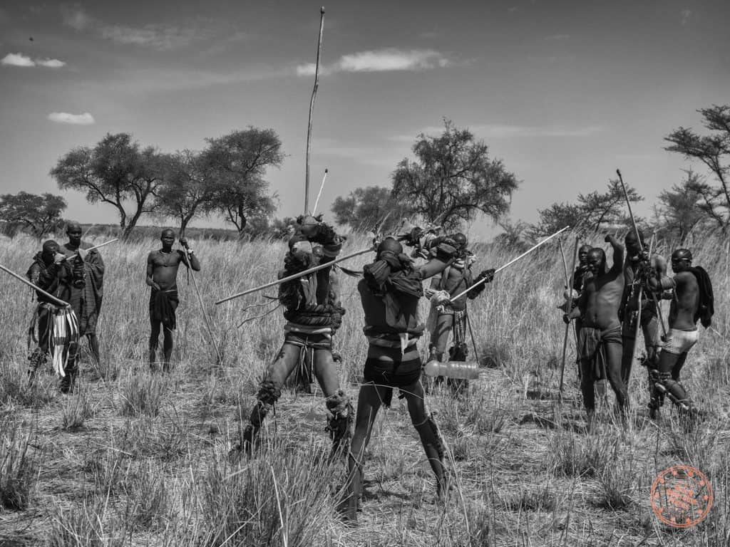 The Donga tournament is rife with energy and rhythm as a circle is made for opposing warriors.
