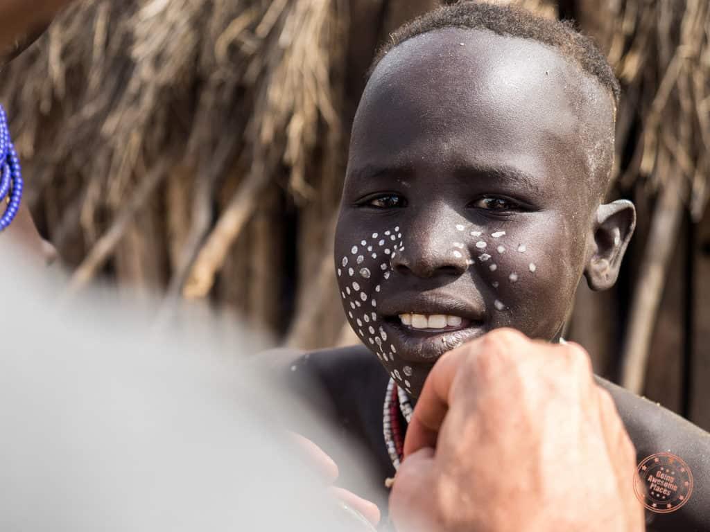 Karo Tribe Face Paint