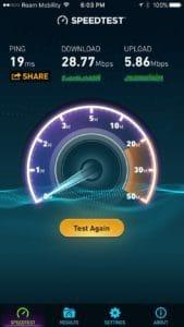 Aina Nalu Wifi Speedtest Results