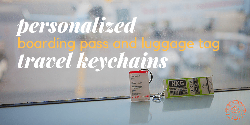 Personalized Boarding Pass and Luggage Tag Travel Keychains