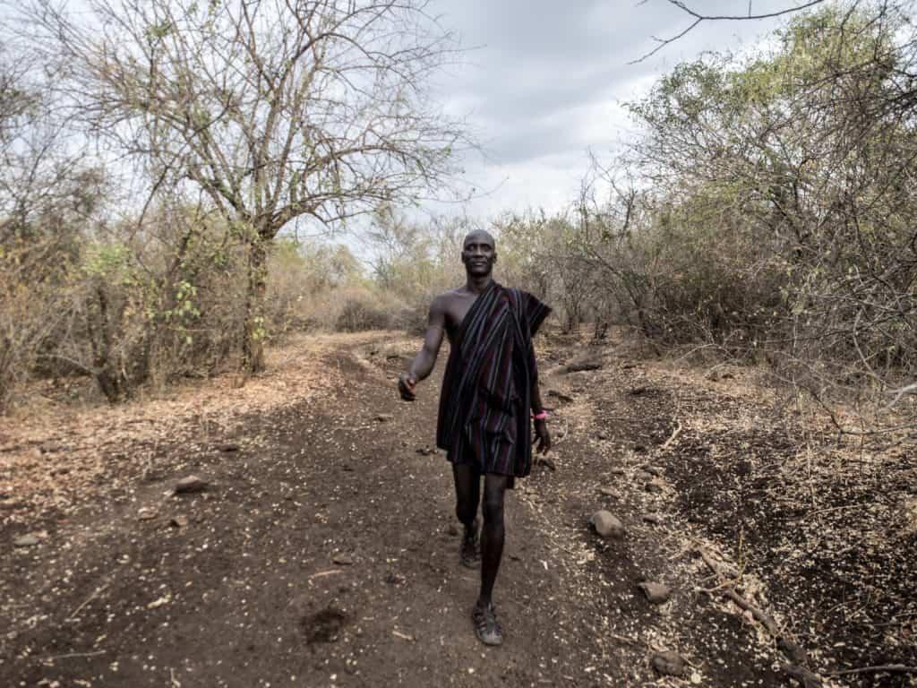 mursi tribe chief nogali in omo valley