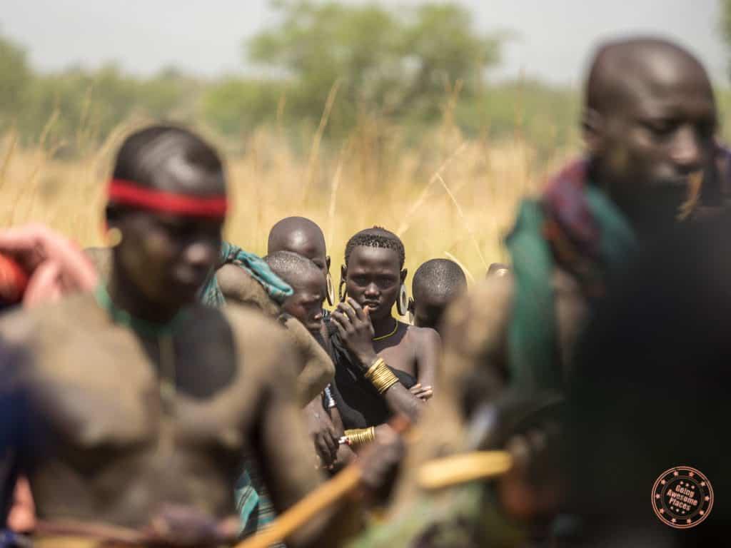 donga stick fighting tournament of mursi tribe warriors in omo valley ethiopia