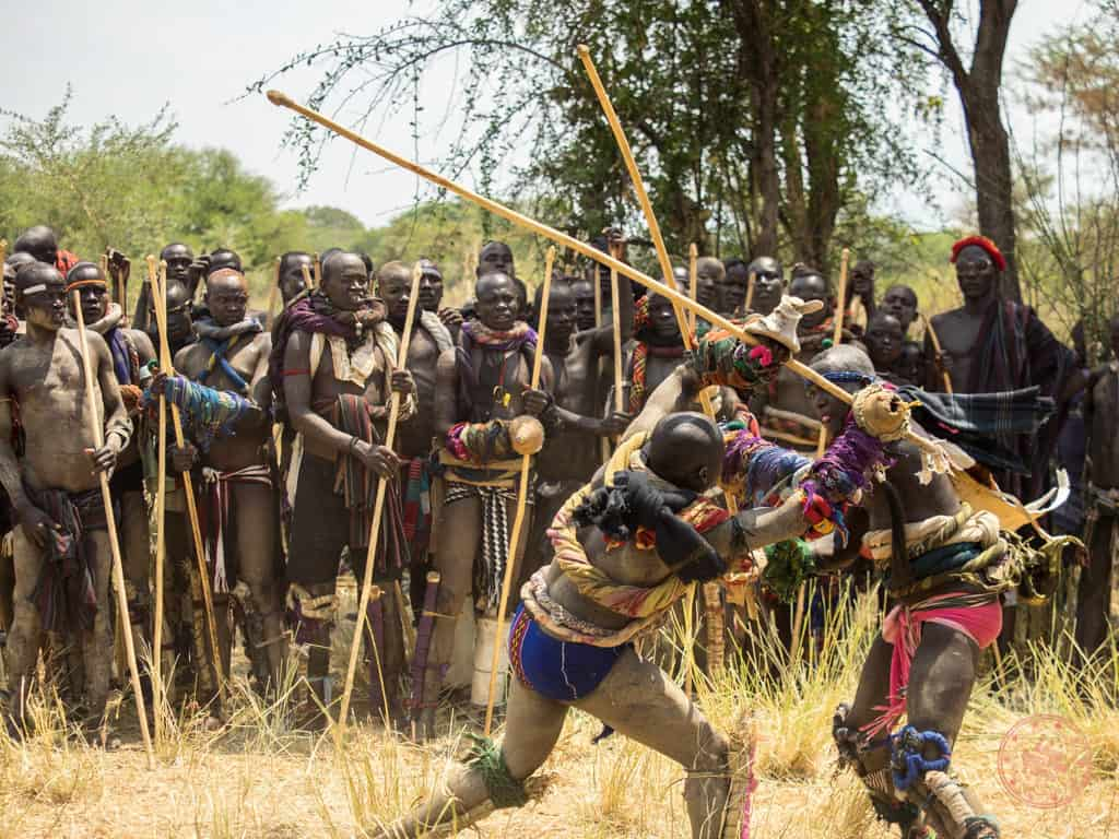 donga arena stick fighting in omo valley ethiopia 9 day itinerary