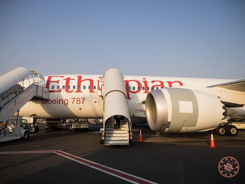 Ethiopian Airlines 787 Landing in Addis