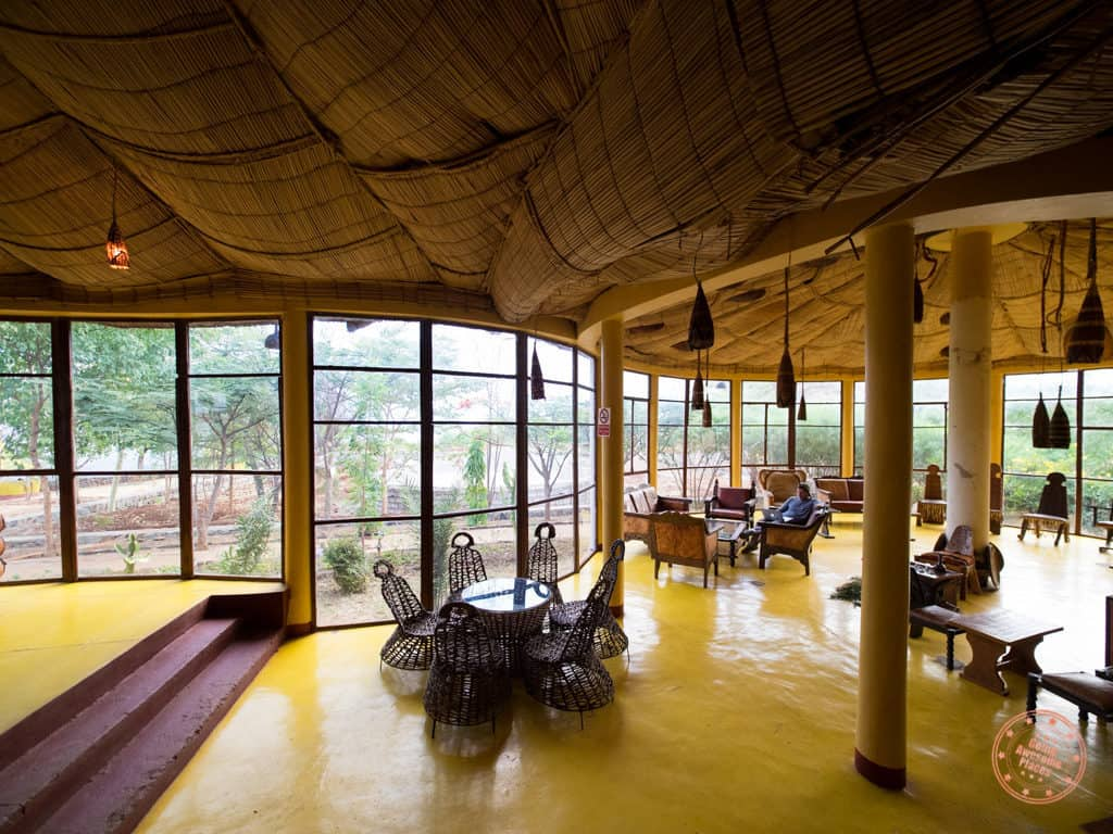 dining area and lounge at swaynes hotel arba minch ethiopia