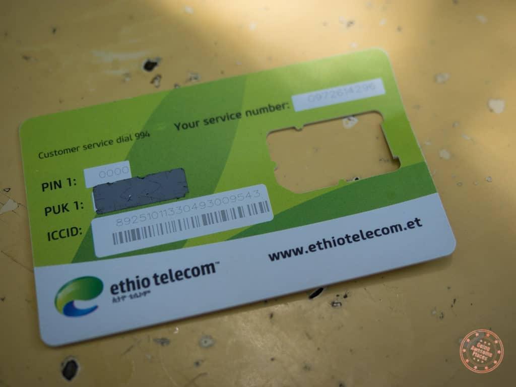 ethio telecom prepaid sim card omo valley trip planning resource