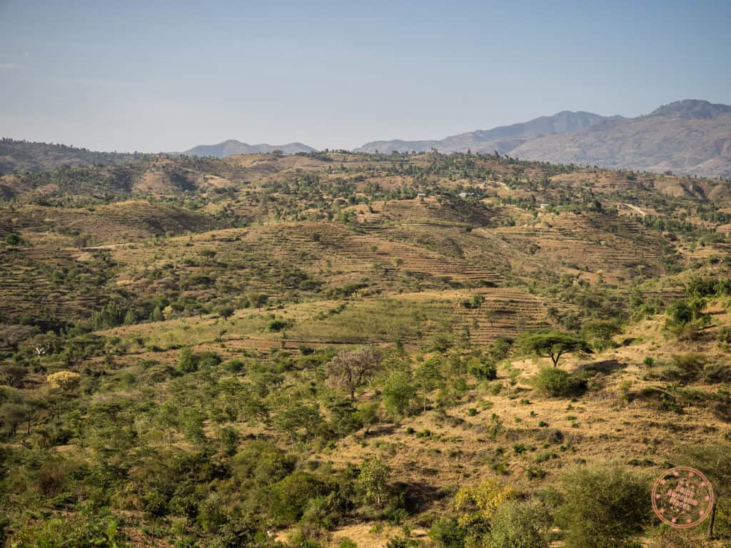 Landscapes of Ethiopia Driving Towards Jinka