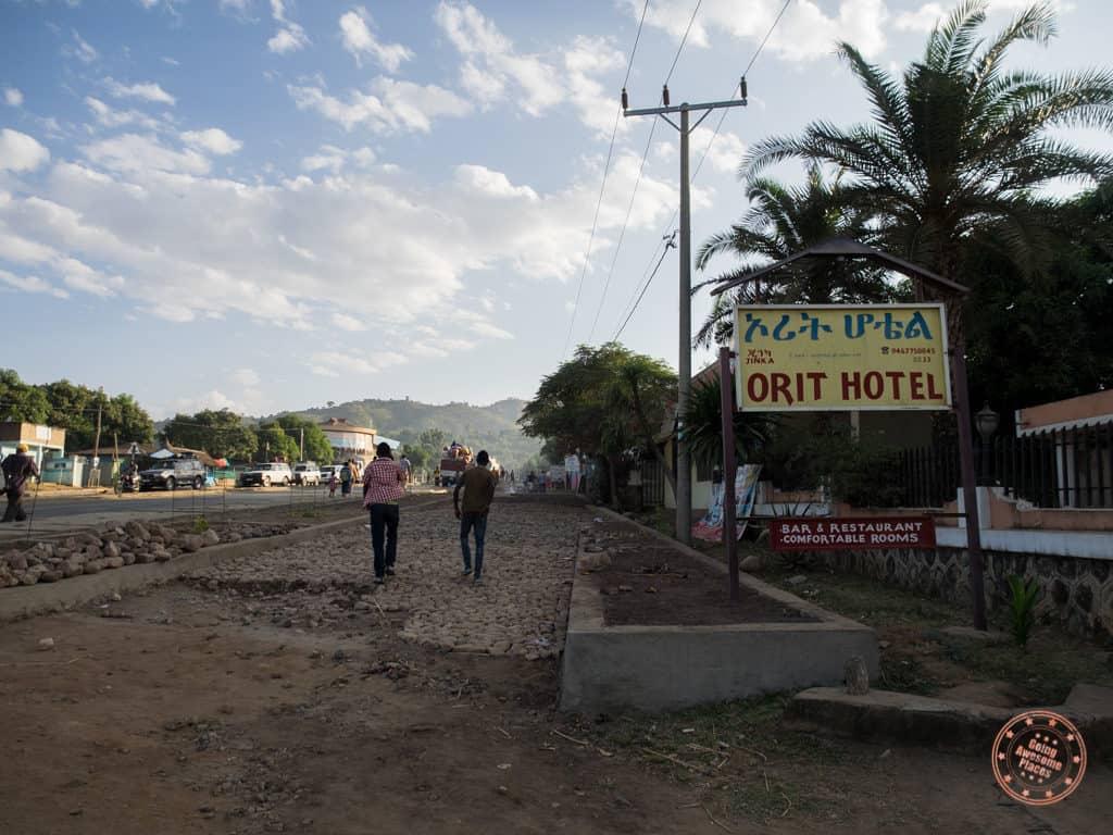 Orit Hotel Jinka Entrance in omo valley travel guide
