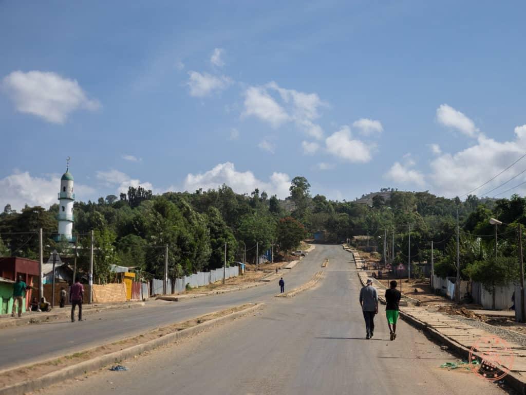 Walk up the Hill in Jinka