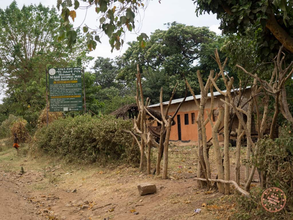 entrance tot mago national park in 9 day omo valley itinerary