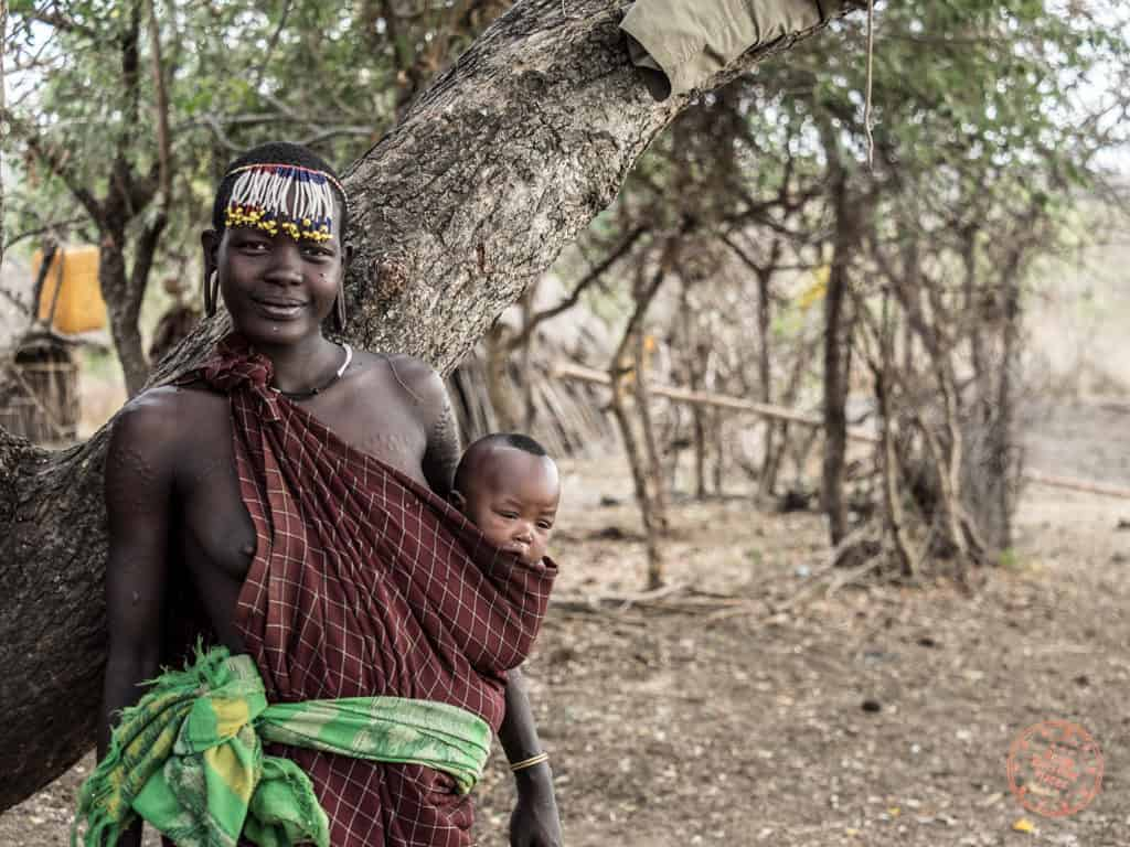 mursi tribe woman with baby