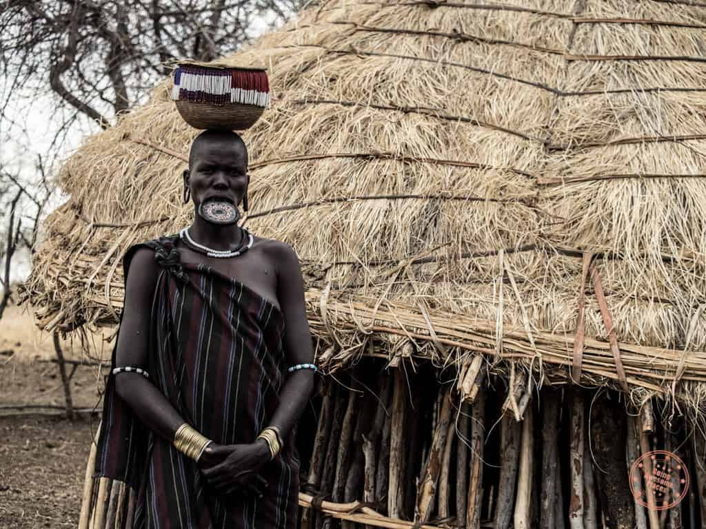 Mursi Tribe Woman with Clay Lip Plate