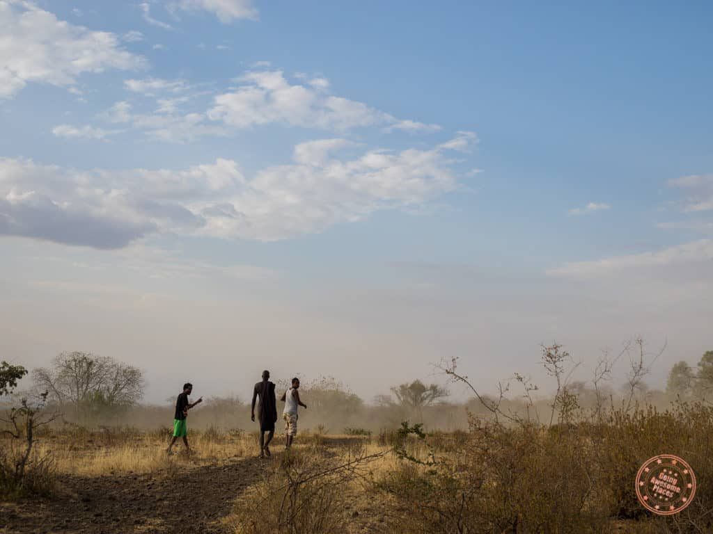 mursi tribe walk to watering hole ethiopia travel guide for omo valley