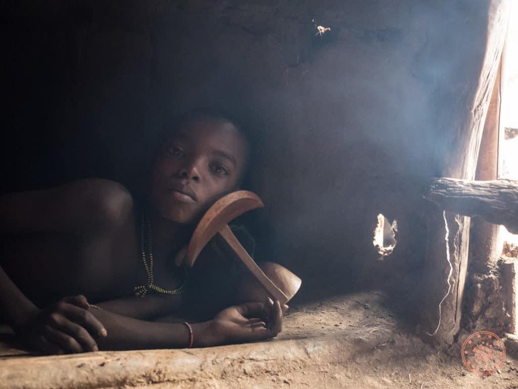 Hamer Tribe Hut Child