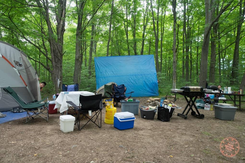 Campsite in Ontario