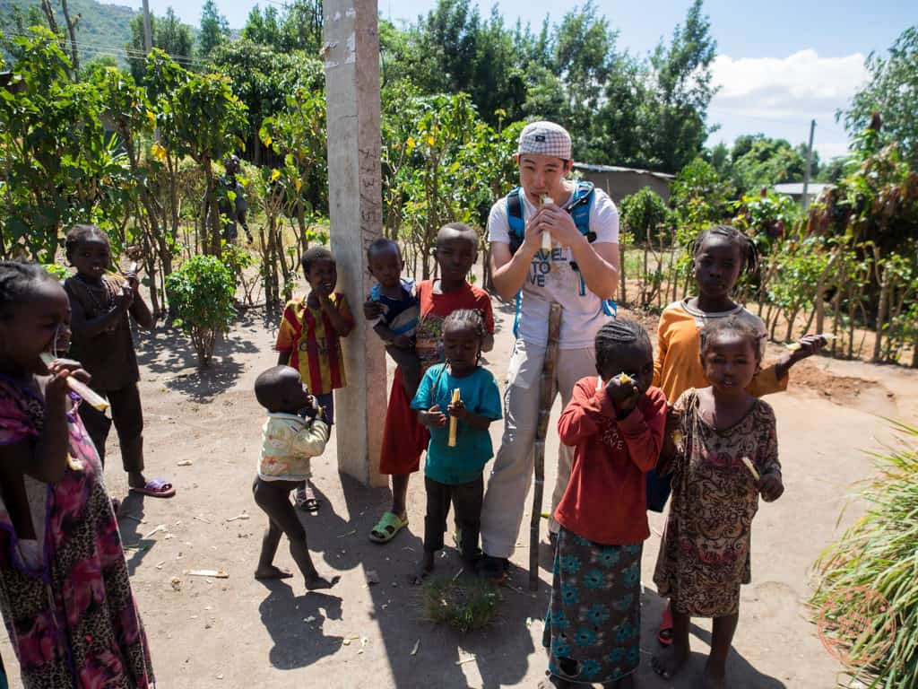 hanging out with ari tribe kids in omo valley ethiopia