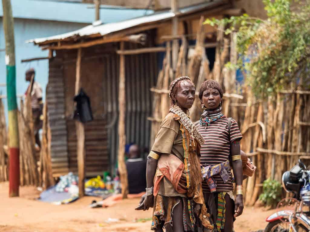 Hamar Tribe Members Meeting in Dimeka
