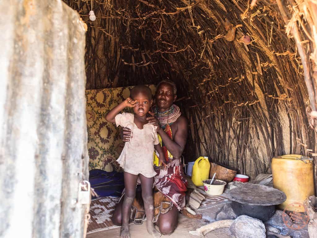 Inside a Nyangatom Hut