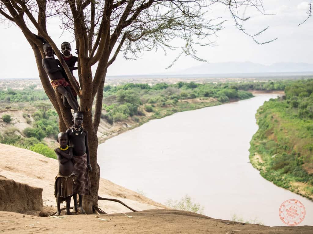 Children of Karo Tribe