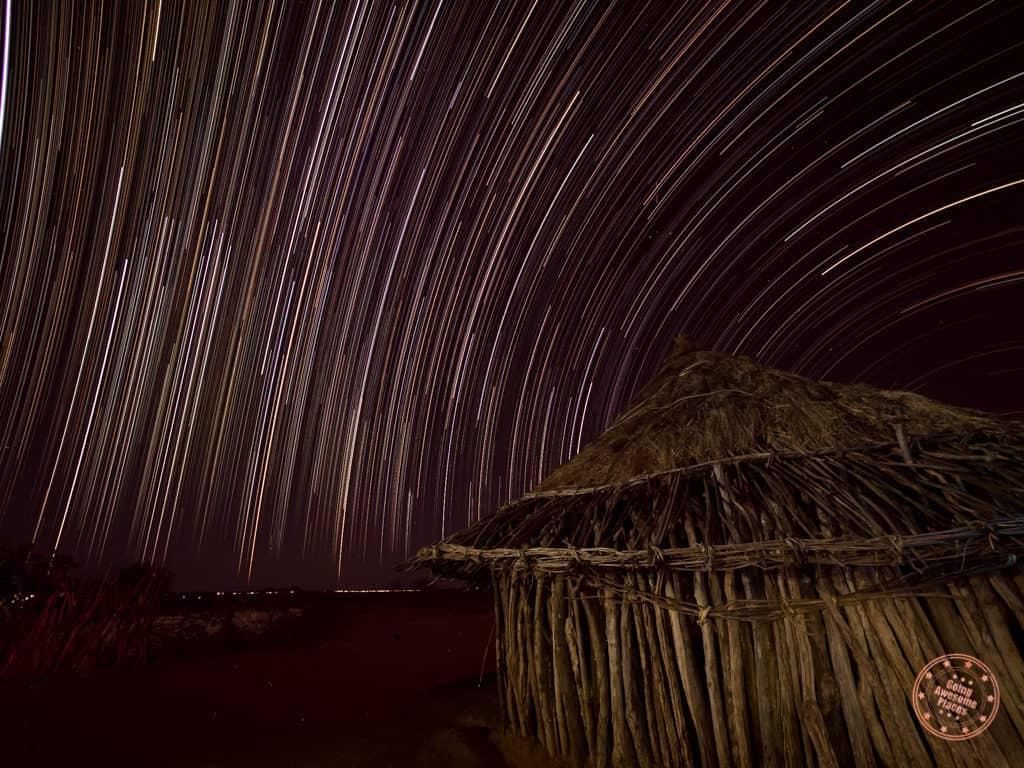 Star Trails in Hamar Tribe