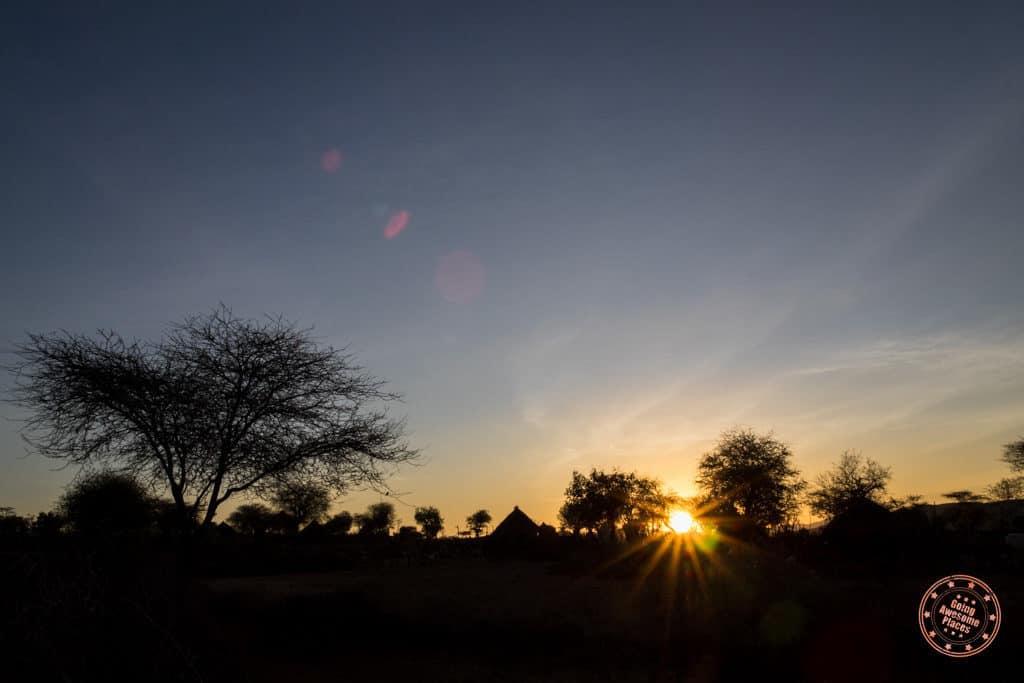 Sunrise from Hamar Tribe Village