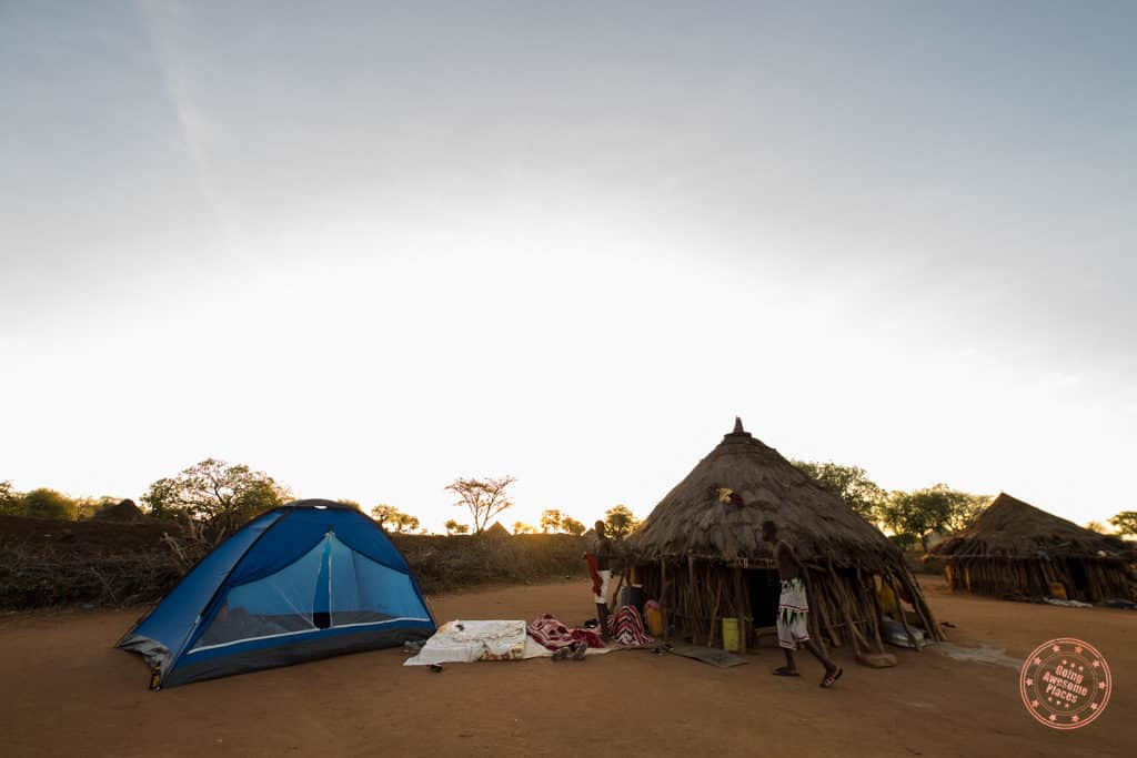 camping experience with omo valley hamar tribe in ethiopia