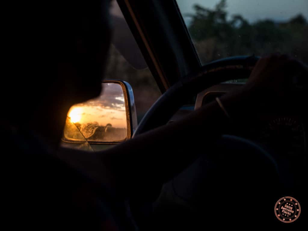 driving towards key afer in omo valley ethiopia