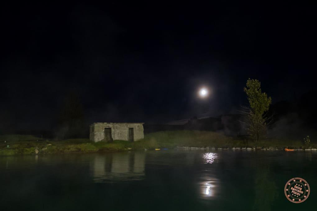 Secret Lagoon Iceland At Night