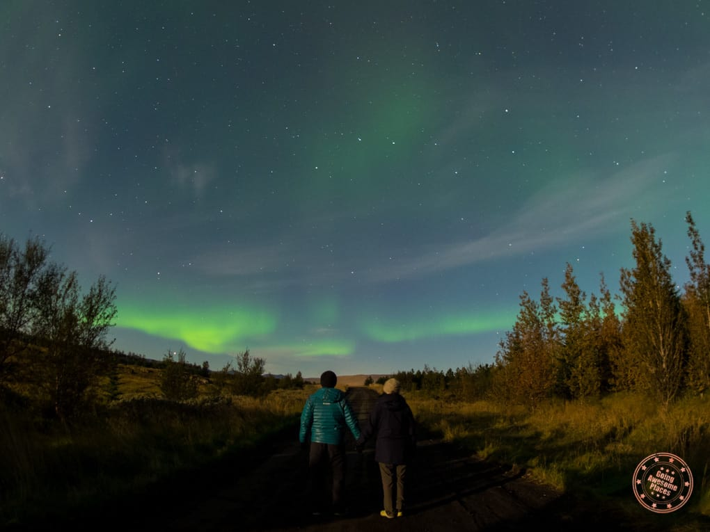 Watching the Northern Lights From Buubble Parking Lot