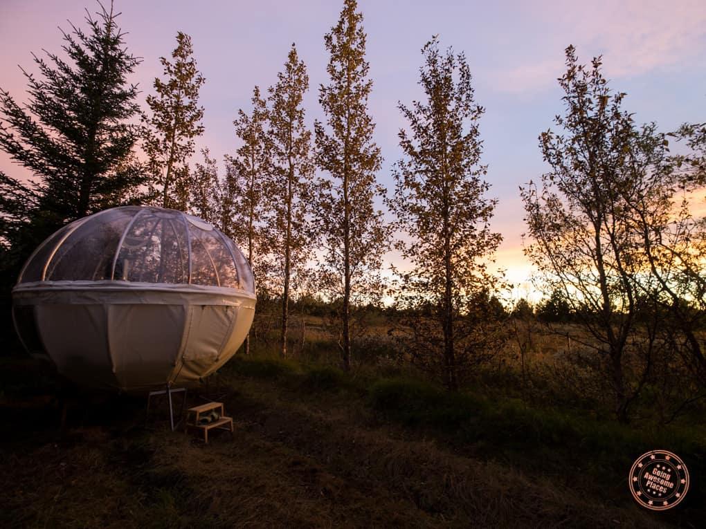 Valdis Bubble in Iceland