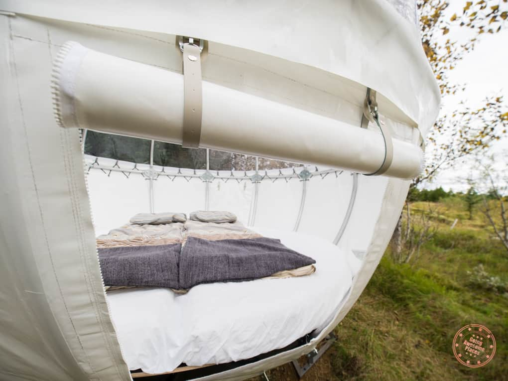 Cozy Inside Bubble Hotel in Iceland