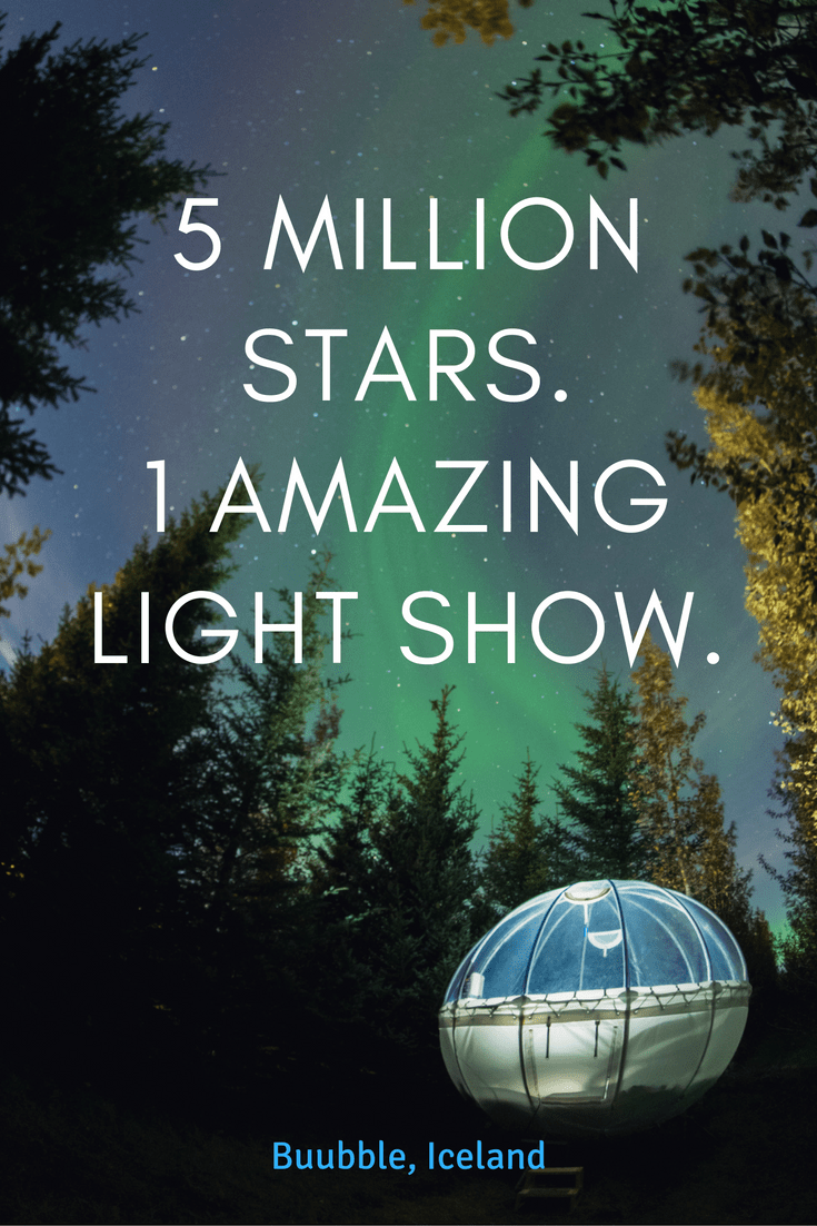 A bubble hotel experience like no other. Stay under the stars in a clear bubble lodge and watch the Northern Lights dance above.