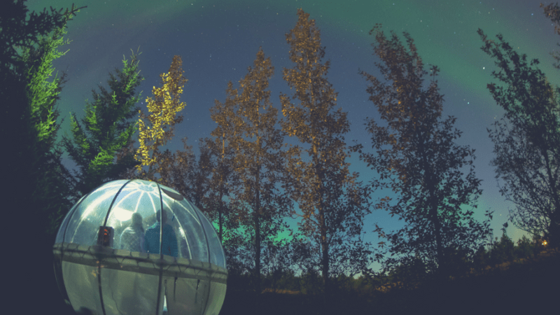 A Northern Lights Bubble Hotel Experience in Iceland