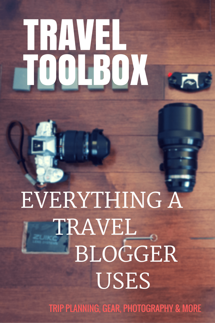 Take a look at my own personal travel resources toolbox.  This is everything that I use whether it's to plan a trip or my photography kit.