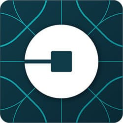 Ride with Uber app